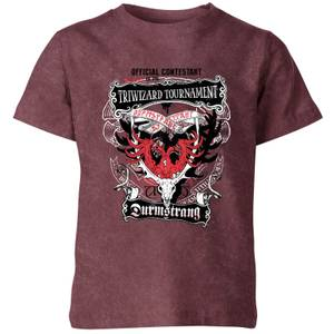 Harry Potter Triwizard Tournament Kids' T-Shirt - Burgundy Acid Wash