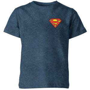 Superman Kids' T-Shirt - Navy Acid Wash