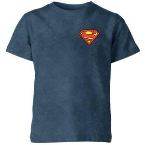 Superman Kids' T-Shirt - Navy Acid Wash