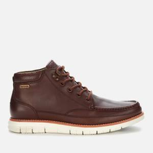 Barbour Men's Victory Leather Apron Chukka Boots - Dark Chestnut