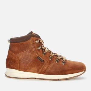 Barbour Men's Mills Suede Hiking Style Boots - Rust