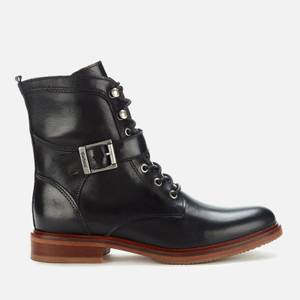 Barbour Women's Tasmin Leather Lace Up Boots - Black