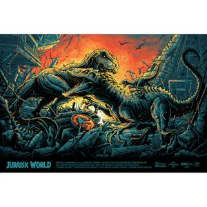 Jurassic World Screenprint by Dan Mumford
