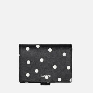 Ganni Women's Polka Dot Wallet - Sky Captain