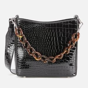 HVISK Women's Amble Croco Small Shoulder Bag - Black