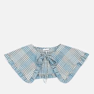 Ganni Women's Seersucker Check Collar - Heather