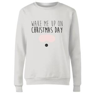 GLOSSYBOX Wake Me Up On Christmas Day Women's Christmas Jumper - White