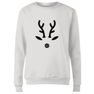 GLOSSYBOX Reindeer Women's Christmas Jumper - White