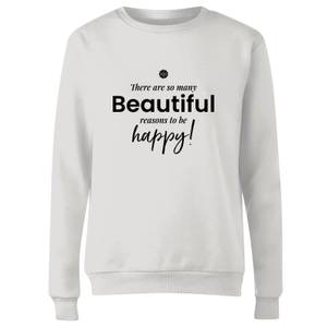 GLOSSYBOX There Are So Many Beautiful Reasons Women's Christmas Jumper - White
