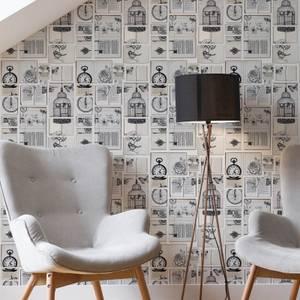 Fresco Netural Text Book Typography Wallpaper