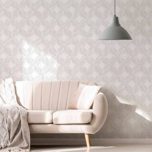 Superfresco Arabella Neutral Geometric Wallpaper