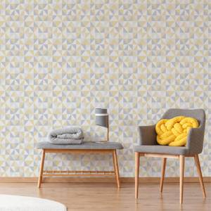 Superfresco Erika Yellow/Grey Geometric Wallpaper