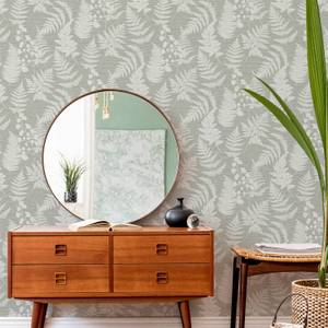 Fresco Taupe Witton Silhouette Leaf Wallpaper