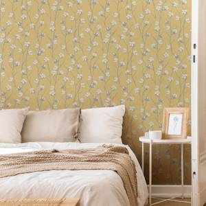 Superfresco Ochre Cotton Flower Floral Wallpaper