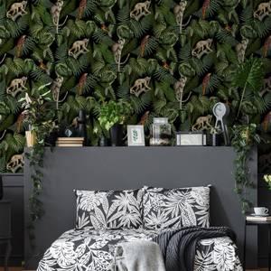 Superfresco Easy Black Into the Jungle Tropical Wallpaper