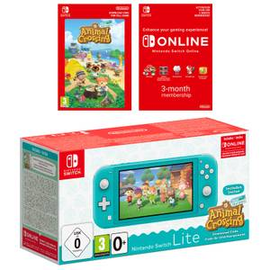 Nintendo Switch Lite (Turquesa) + Animal Crossing: New Horizons + Nintendo Switch Online 3 Meses