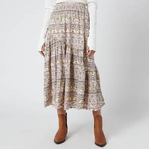 Free People Women's All About The Tiers Print Skirt - Pop Combo