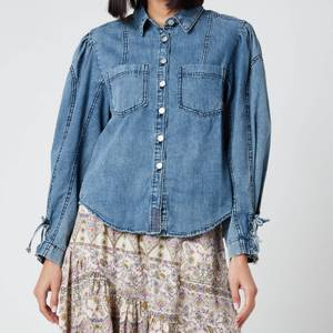 Free People Women's Micah Denim Top - Indigo Combo