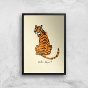 Poet & Painter Hello Tiger Giclee Art Print