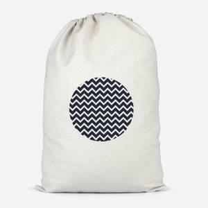 Geo Circle Navy Cotton Storage Bag