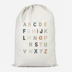 Pastel Alphabet Cotton Storage Bag