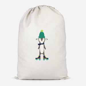 Roller Skate Fox Cotton Storage Bag