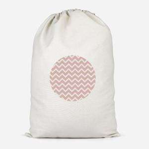 Pink Geo Circle Cotton Storage Bag