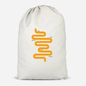 Geo Quote Cotton Storage Bag