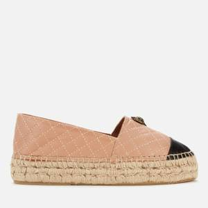 Kurt Geiger London Women's Morella Eagle Leather Espadrilles - Camel