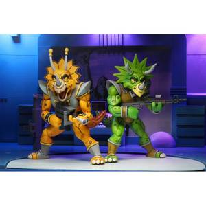 NECA Teenage Mutant Ninja Turtles Cartoon Captain Zarax and Zork 2 Pack Ultimate 7 Inch Scale Action Figure