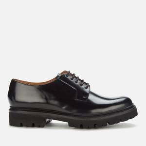 Grenson Men's Melvin Hi Shine Leather Derby Shoes - Black