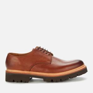 Grenson Men's Curt Leather Derby Shoes - Washed Walnut