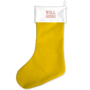 Well Hung Yellow Christmas Stocking