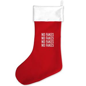 No Fakes Christmas Stocking