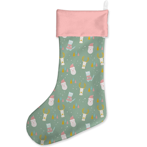 Green And Pink Christmas Stocking