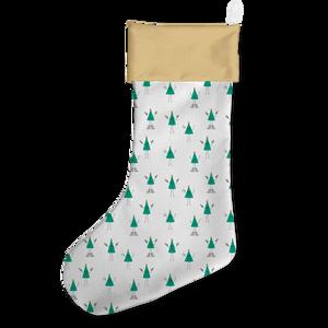 Cartoon Christmas Tree Christmas Stocking