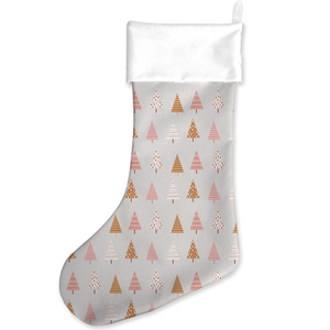 Pastel Tree Pattern Christmas Stocking