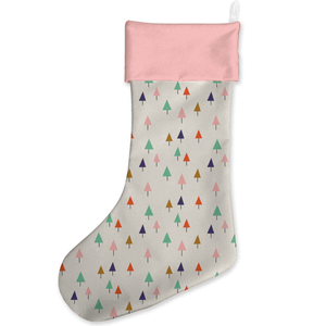 Geo Trees Christmas Stocking