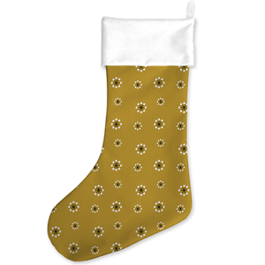 Snowflakes Mustard Christmas Stocking