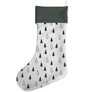 Tonal Tree Scandi Pattern Christmas Stocking