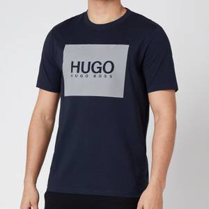 HUGO Men's Dolive211 Reflective Logo T-Shirt - Dark Blue
