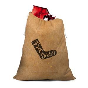 Free Dobby Hessian Santa Sack