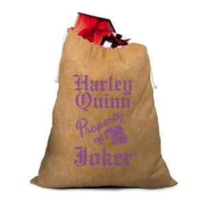 Property Of Joker Hssian Santa Sack