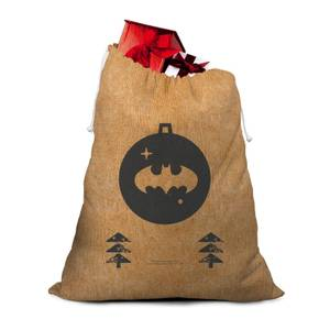 Batman Bauble Hessian Santa Sack