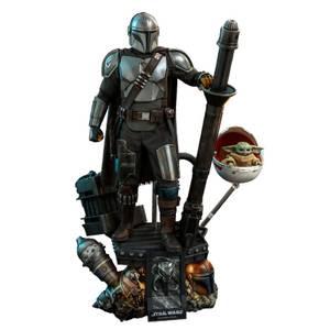 Hot Toys Star Wars The Mandalorian Figurines articulées Deluxe Pack de 2 échelle 1/4 le Mandalorien & l'enfant 46 cm