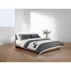 Calvin Klein Varsity Logo Throw - Grey/Black