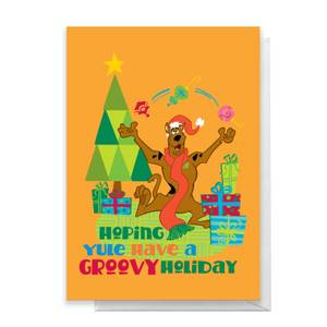 Scooby Doo Hoping Yule Have A Groovy Holiday Greetings Card