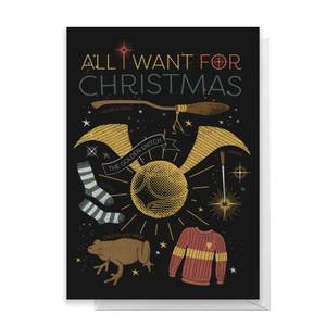 Harry Potter All I Want For Christmas Greetings Card