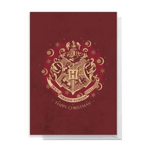 Harry Potter Crest Happy Christmas Greetings Card