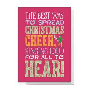 Elf Christmas Cheer Greetings Card